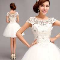white lace bridesmaid dresses 2014 zuhair murad fiesta girl party dress  301
