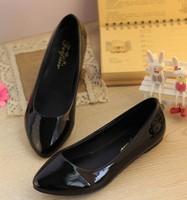 Free shipping  women's flat shoes PU ladies flat shoes casual lady shoes women Factory price  WAB2013-0020