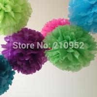 Free Shipping 90pcs mixed (10CM,15CM,20CM) Tissue Paper Pom Poms Wedding/Party/Birthday/Baby shower/Nursery  decoration