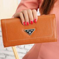 2015 fashion women wallets brand long designer genuine leather wallet women clutch bags lady purse carteira feminina