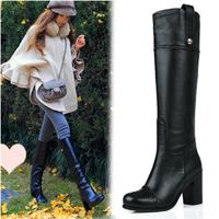 Autumn Ankle Boots Heels Women Platform Knee High Shoes Woman Winter High Heels Ankle Boots Thigh High Boots For Women DGXZ1040
