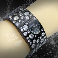 Watches Women Bracelets & Bangles Brand women Rhinestone Watch Quartz Wristwatches Full Steel Retro Relojes Mujer Fashion watch