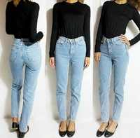 Women American Apparel AA Style Vintage Wash High Waist Jeans Harem Pants  2 colors YX016
