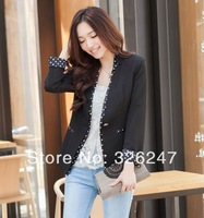 2014 new arriveral brand design spring new Korean fashion ladies dots wild temperament thin high-end small suit jacket wholesale