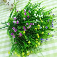 10x Artificial Grass Decorative Flowers Artificial Plants Plastic Silk Flower 28cm Length simulation flower
