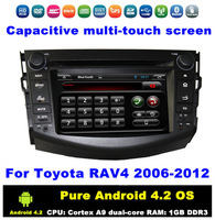 """HD 2 din 7"""" Pure Android 4.2.2 Car PC DVD Radio GPS Navi for Toyota RAV4 2006-2012 With 3G / WIFI Bluetooth IPOD TV Radio AUX IN"""