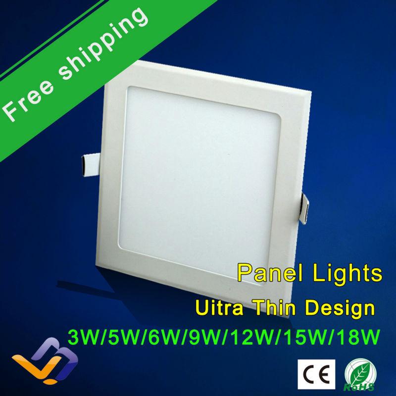 3w/5W/6W/9W/12W/15W/18W led panel lighting ceiling light DownlightAC85-265V Warm /Cool white,indoor lighting,HOT!(China (Mainland))