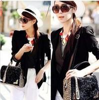 2014 Fashion Women Handbags Leopard Print Paillette Casual Bag Shoulder Bags Messenger Bags And DropshipF3058