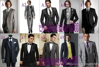 2014 - Custom Made to Measure men's BESPOKE suit,black jacket + black shawl lapel + black pants + tie + pocket sqaure, Tailored