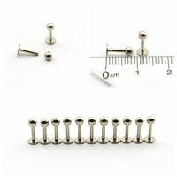 10 pcs  16G/6mm Stainless Steel labret barbell Lip spiked piecing stud Rings CD021