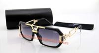 Free shipping News new oculos de sol  famous brand Cazal  sunglasses  for men  women oversize frame  with Original case 627