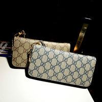 New 2014 High Quality Fabulous Lady's Zipper Opening Plaid Printed Women Wallets Brand Design Women Purses