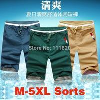 New 8 Colors shorts Top quality men's sport beach SHORTS aqux clamdiggers Knee-length shorts