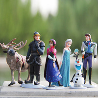 New Princess  dolls Frozen Elsa Anna Kristoff Olaf Hans Sven 6pcs/set dolls models figures