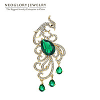Pre-sale Neoglory New Arrive Wedding Phoenix Brooches Bridal Zircon Broach Costume Jewelry Designer Women Accessories Gifts