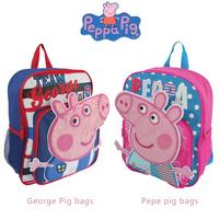 2014 new Peppa pig bag school bag backpack for girls boys pink pig cartoon assuming pig female child rose Preschool schoolbag