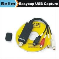 Free Shipping New USB 2.0 Easycap USB Capture tv dvd vhs Video Capture adapter Audio AV Capture card Dropshipping