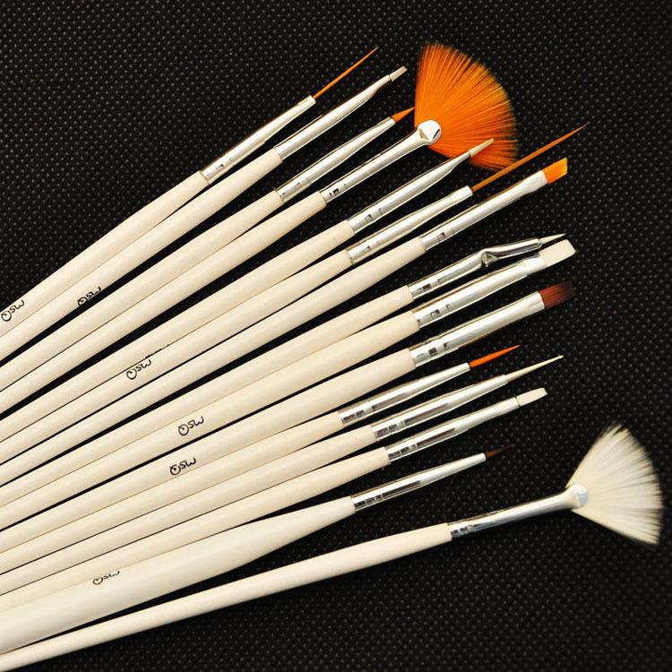 Professionelle 15 stück nail-art-satz für nail art pen Design& malwerkzeug dropshipping