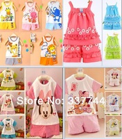 New 2014 Baby Set Children's set kid's t-shirts girls boys t shirt+pants undershirt Shorts,clothing set,Children's clothing
