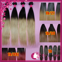 ms queen ombre brazilian straight hair extensions 1b/27 1b/30 1b/99j or 1b color honey blonde auburn dark wine human hair weaves