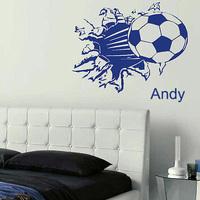 Football ball wall art bedroom mural sticker transfer poster decal home decor
