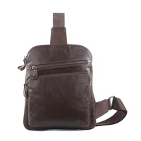 Bags Genuine leather Chest pack for man male messenger bag vintage casual genuine leather 7195c