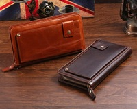 [3.25 sale] Wallets Large capacity male day clutch bag fashion first layer of cowhide genuine leather 8019