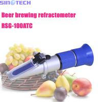 Hand held  beer brewing refractometer 1.000-1.130SG  Wine wort  Refractometer 0-32%brix  RSG-100ATC