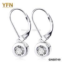 Women's Fashion Earrings Genuine 925 Sterling Silver Jewelry 22.5*7.5mm Cubic Zircon Drop Earrings For Women Valentine's Gift