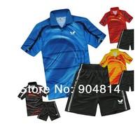Tennis shirt wholesale fashion free shipping New Butterfly Table Tennis shirt Shirt+Shorts game shirt