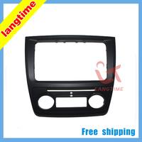 Free shipping--Car refitting DVD frame,DVD panel,Dash Kit,Fascia,Radio Frame,Audio fascia for Skoda yeti (Auto AC)