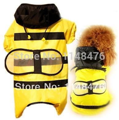 [FREE SHIPPING] Fashion Pet Rainy Days Bee Costume Dog Raincoat(China (Mainland))