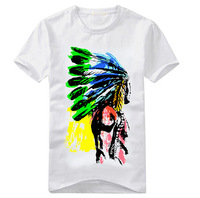 Free shipping 2014 brand new summer men's fashion cotton short-sleeve T-shirt o-neck men's t shirt mens tops $ tees 20 Style