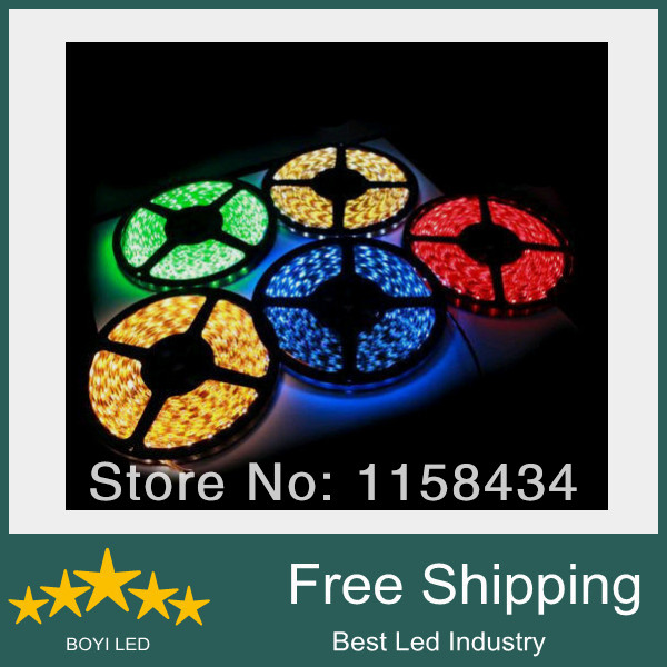 Free shipping 1 piece 5m 5050 300 IP60 non waterproof bar strip,5050 SMD led strip, led strip light(China (Mainland))