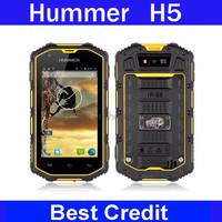 "New original Hummer H5 4.0"" Capacitive Screen IP67 Waterproof Shockproof Dustproof Dual core 512M RAM 4G ROM 3G phone/Oliver"