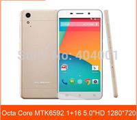 "Free Flip case Cubot X6 mtk6592 Octa Core phone 1.7GHz 5.0 "" 1280 x 720 IPS OGS Screen 1GB RAM 16GB ROM Android 4.2 wifi  LN"