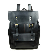 Vintage Casual Genuine Oil Wax Leather Cowhide Crazy Horse Leather Men Women Backpack Shoulder Bag Bags Bakcpacks For Men 1224