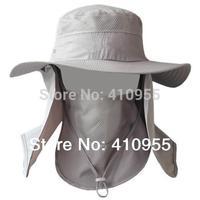 2014 Outdoor Men Women Summer Quick Drying Neck Face UV Protection Fisherman Sun Hats Camping Cycling Bucket Sun Cap sunbonnet