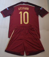 2014 ARSHAVIN #10 red soccer jersey uniforms (shirts+shorts) with Embroidery logo + can custom names&numbers