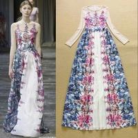 2015 runway dress women's High quality  dresses brand dresses U011232