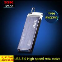 SSK SFD223 USB 3.0 flash drive pen drive 100% 256GB 128GB 64GB 32GB 16GB USB flash drive Metal high speed usb flash drive USB3.0