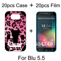 Phone Cover For Blu Studio 5.5 Hybrid 2 in 1 Cell Phone Cases Printing Design (20pcs Case + 20pcs Screen Film) DHL Free Shipping