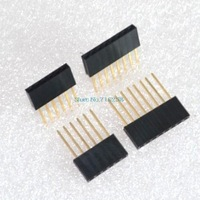 80PCS 2.54MM 6Pin & 8Pin 10MM Long Needle Female Header Strip Stackable Header for arduino W5100 6p 8p Long Needle Female Kit