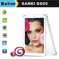Free Shipping Original Sanei G605 6.5inch Tablet PC Qualcomm Dual Core Built-in 3G Phone Android 4.1 Dual Camera Bluetooth GPS