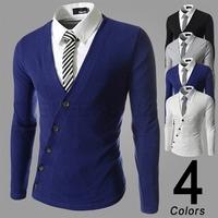free shipping men's V-neck long t shirt,Fashion Man t-shirts,casual clothing men