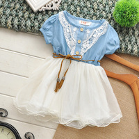 Free shipping 2014New Arrival Summer Fashion Girls Dress Brand Children Dresses Top Quality Girl Dress Kids Clothing Hot Selling