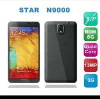 "New Original 5.7"" Star N9000 MTK6582 Quad Core 1G RAM 13MP Camera IPS HD Screen 3G smart phone Android 4.3 1280*720 Resolution"