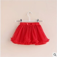 2014 summer new girls casual  yarn tutu skirts with bow pettiskirt for girls kids skirts childrens clothing 2T-8T