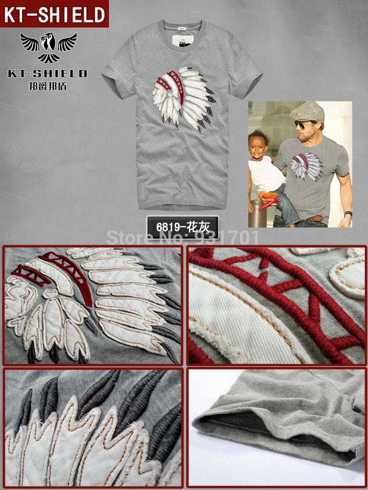 Rushed New 2014 Men's T Shirt Print Sewing Short Sleeve Cotton T-shirts Male Quality Brand Design Causal Slim Men Streetwear(China (Mainland))