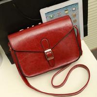 2014 famous designer new oily leather handbag retro college  packet  women's shoulder bag messenger bag